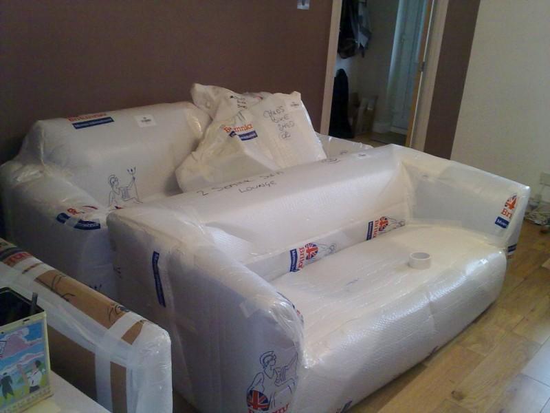 Sofas wrapped